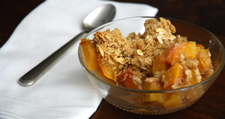 Seasonal Peach Crisp