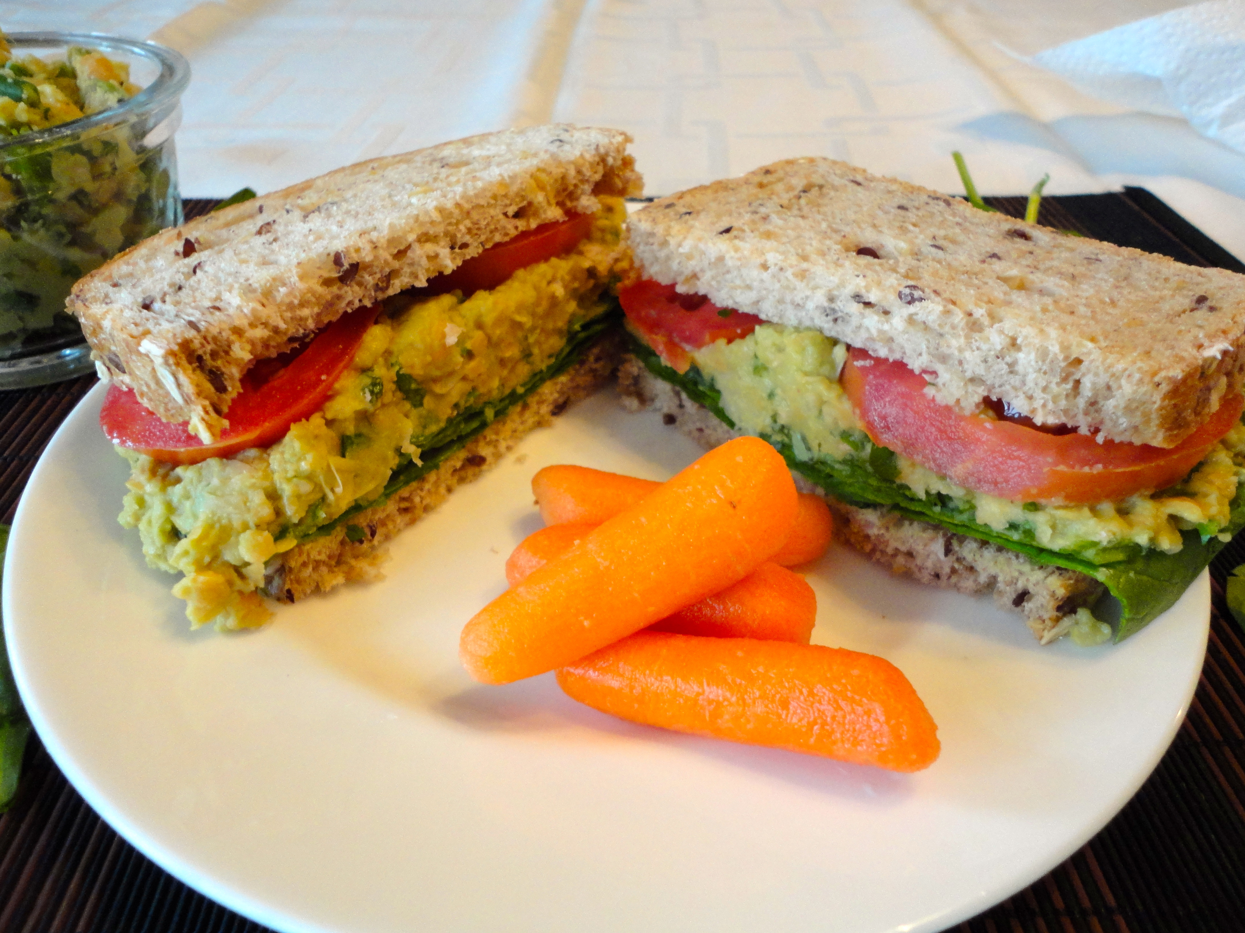 Macaroni Salad How To Lunch Sandwiches Mashed Chickpea And Avocado