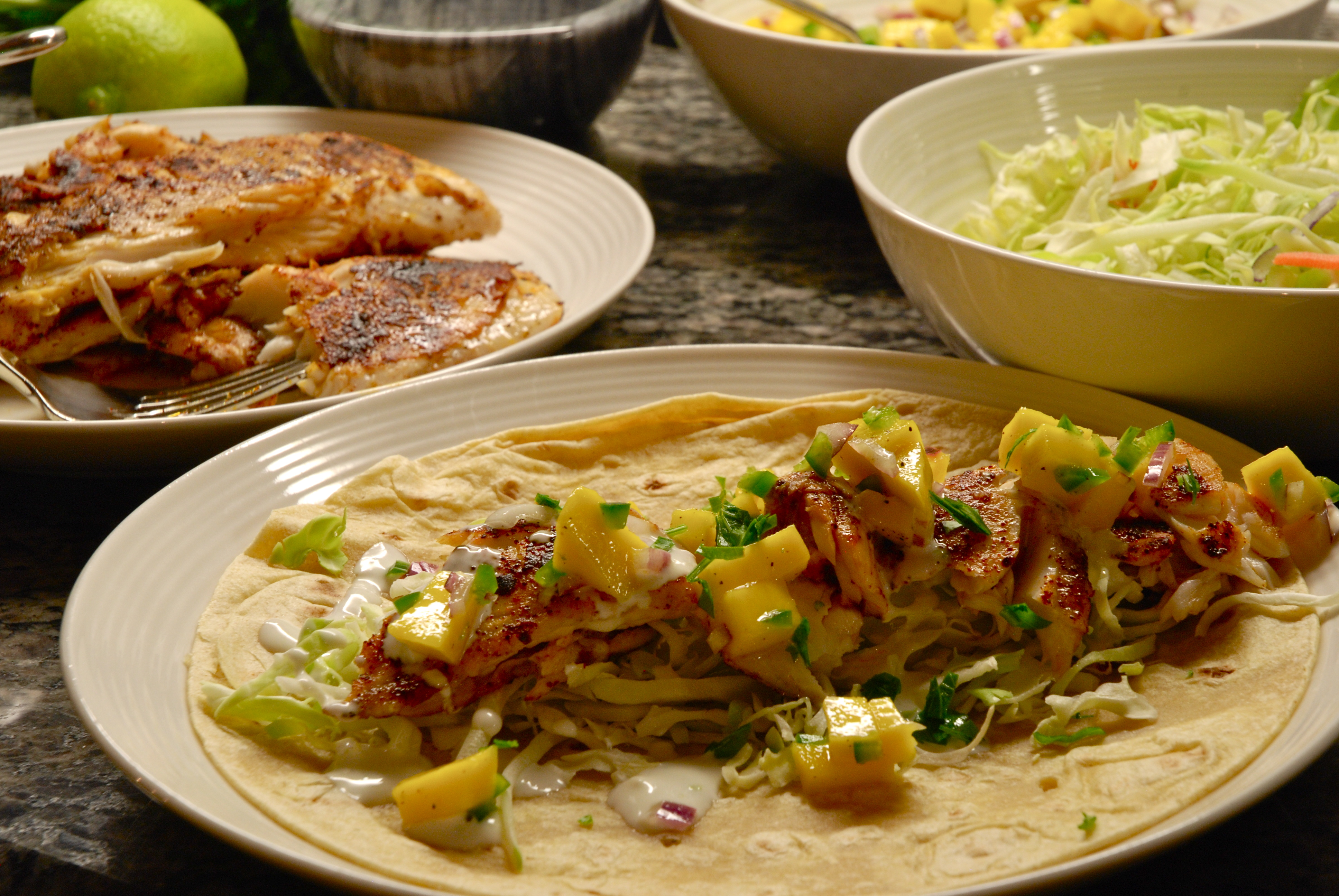 How to quickie meals tilapia tacos how to eat for Tilapia fish tacos