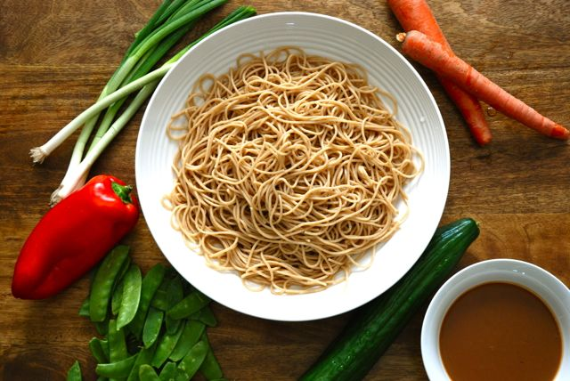 Peanut noodle salad ingredients