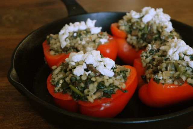 stuffed peppers close up