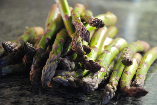 Asparagus Pizza - raw asparagus