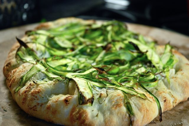 Asparagus Pizza - whole