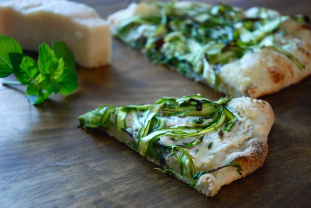 Asparagus Pizza - slice