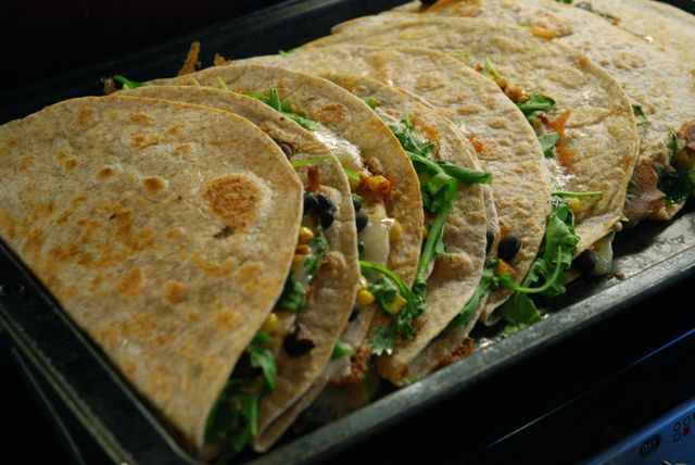 black bean and corn quesadillas6