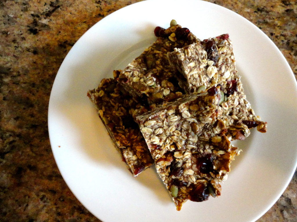 Banana Cranberry Granola Bars
