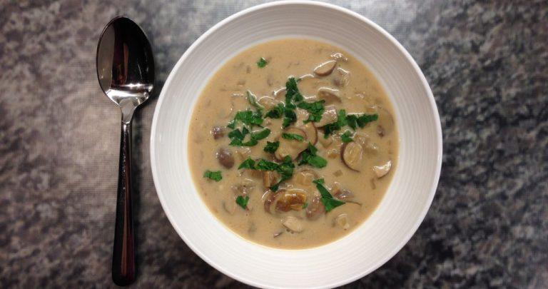 Creamy Mushroom Soup Makeover