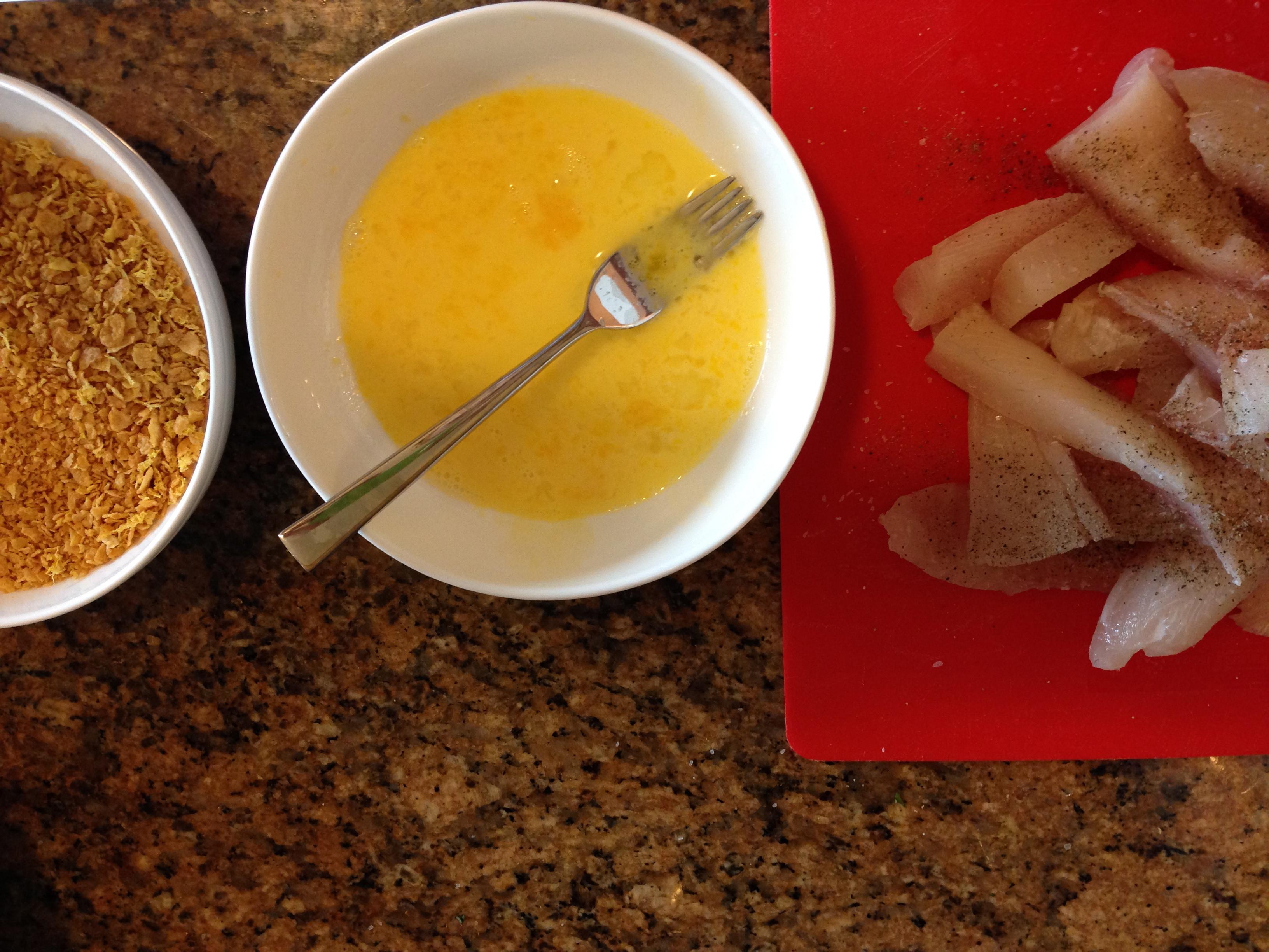 How to recipe makeover cornflake crusted fish sticks for Fish stick recipe