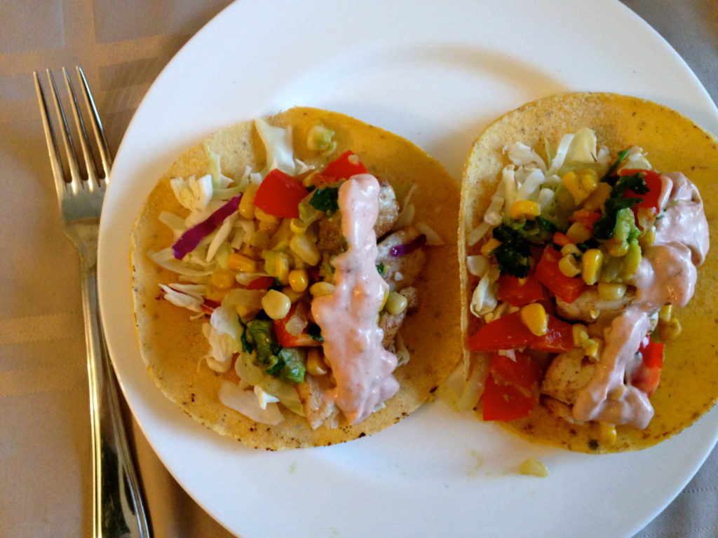 How to quickie meal fish tacos with roasted corn relish for How to cook fish tacos