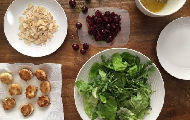 How to: Seasonal Cooking – Crispy Goat Cheese and Cherry Salad