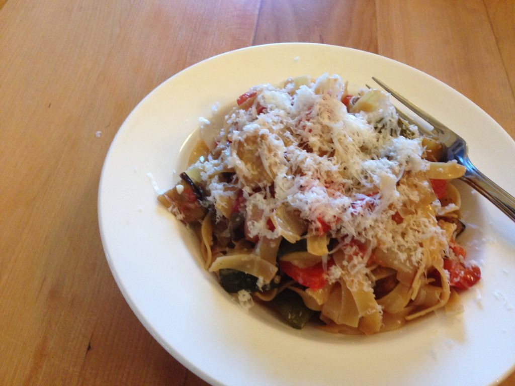 ... To: Quickie Meal – Fettuccine with Roasted Ratatouille | How to Eat