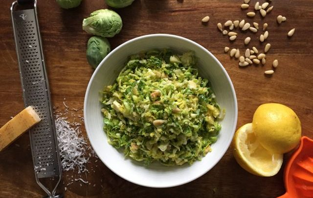 How to: Healthy Side – Simple Brussels Sprout Slaw