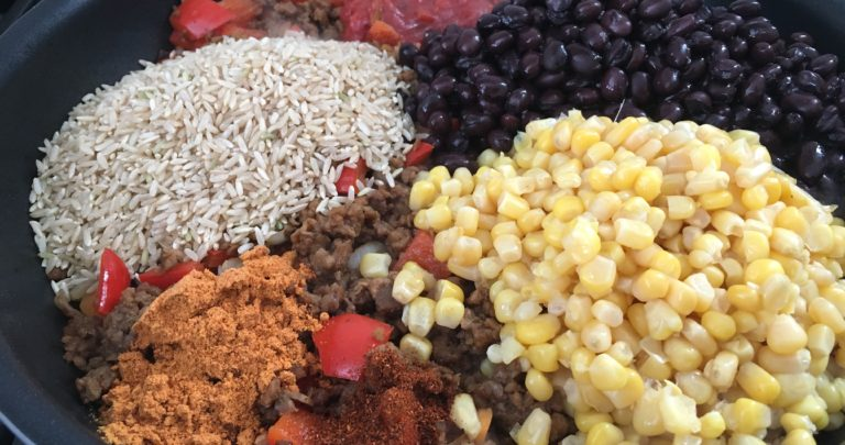 How To: Quickie Meal – One Pan Burrito Bowls