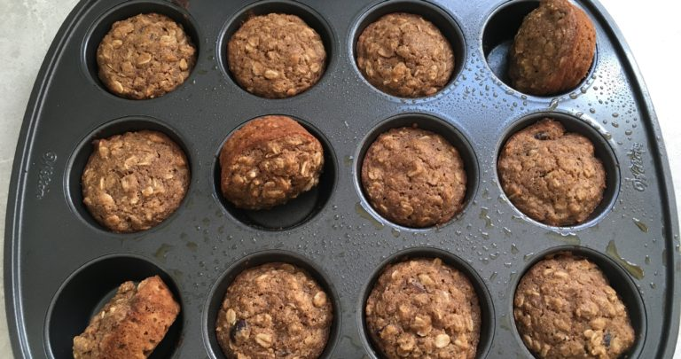 How To: Snack Healthy – Applesauce Oat Cranberry Muffins