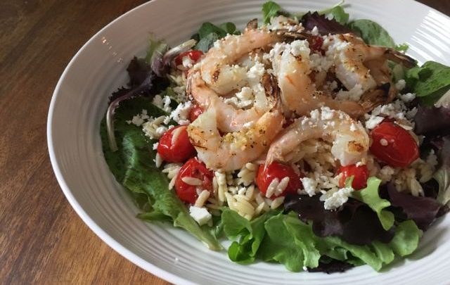 How to: Seasonal Cooking – Garlic & Lemon Grilled Shrimp and Orzo Salad