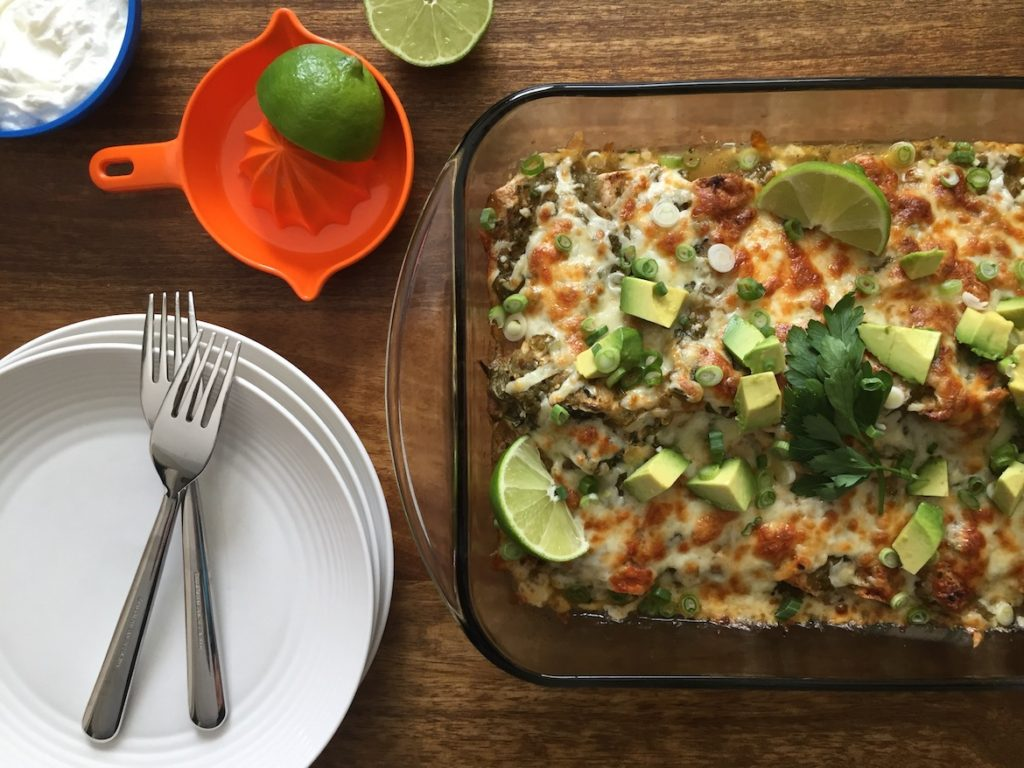 Vegetarian Green Chile Enchiladas