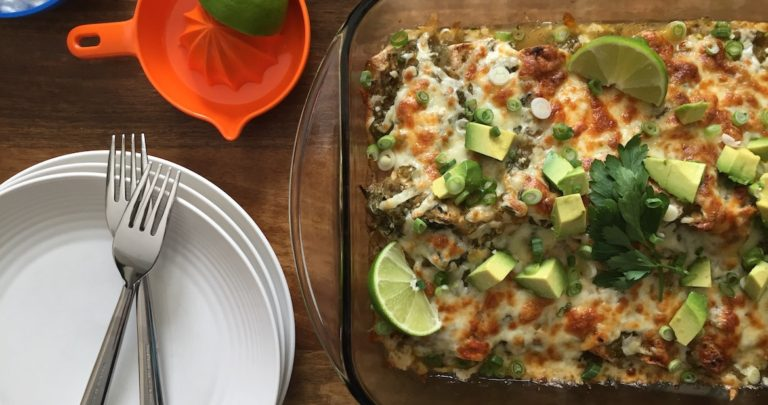 How to: Make Your Own – Vegetarian Green Chile Enchiladas