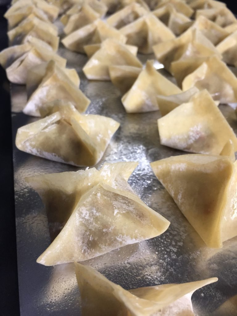 The Simplest Vegetarian Baked Wontons How To Eat