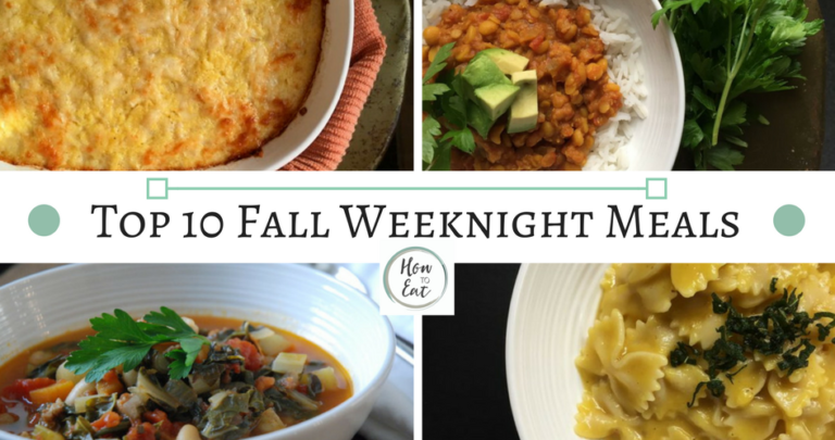 Top 10 Fall Weeknight Meals