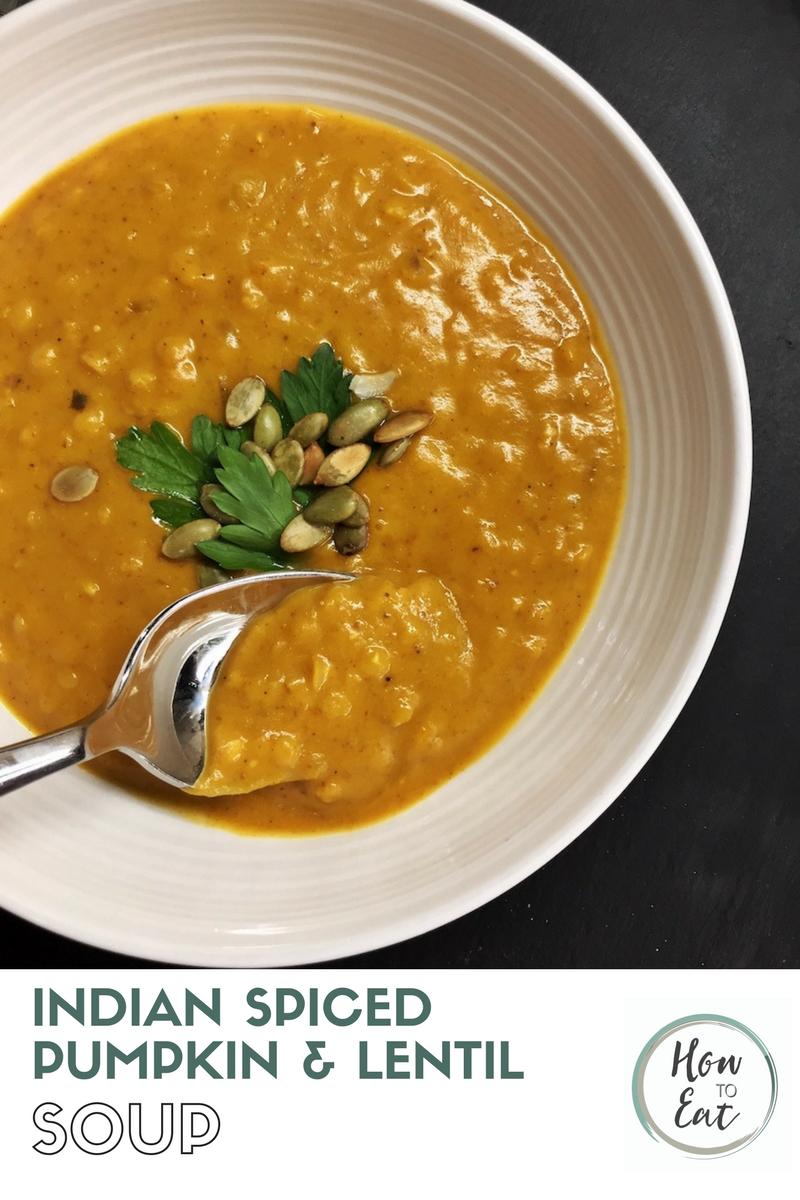 Indian Spiced Pumpkin And Lentil Soup