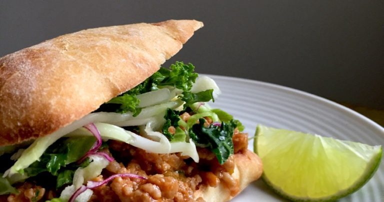 Asian Sloppy Joes with Sesame Kale Slaw