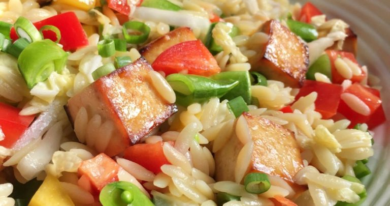 Asian Orzo and Tofu Salad