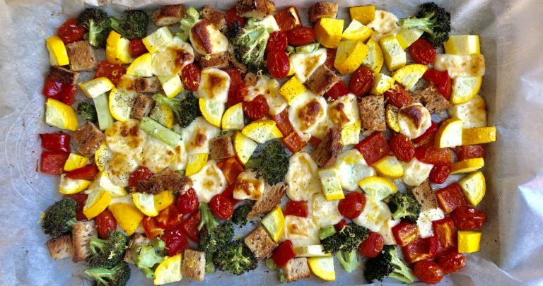 Sheet Pan Halloumi and Vegetables