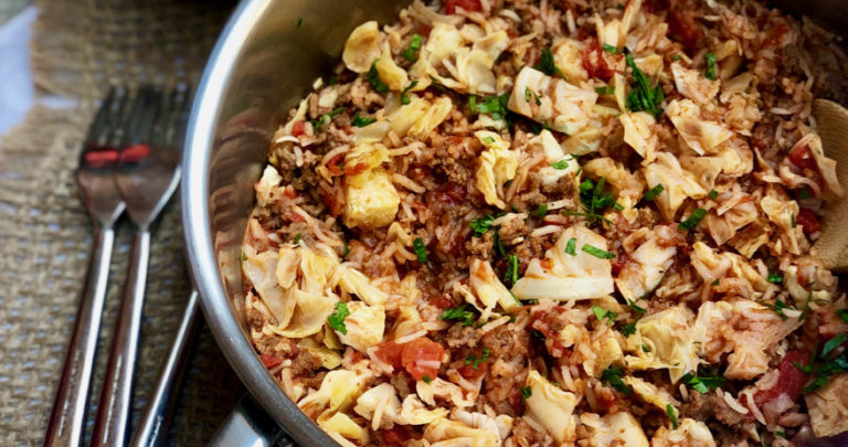 One Pan Deconstructed Cabbage Rolls