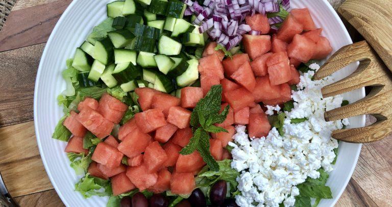 Watermelon Greek Salad