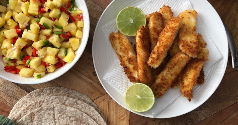 Crispy Halloumi Tacos with Pineapple Salsa