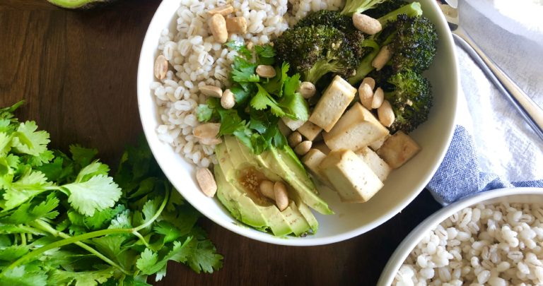 Barley Bowls with Roasted Tofu and Broccoli
